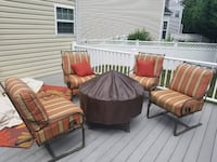 Propane fire pit and chair set. OW Lee Brand Odenton, 21113