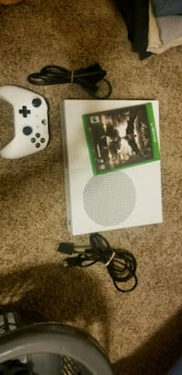 white Xbox One console with controller and game ca Goldsboro, 17319
