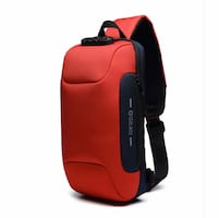 Anti Theft Sling Bag with USB Charging Port Lightweight - Waterproof