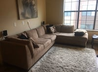Couch w/ Chase Lounge - tan suede (?) Charlotte, 28203
