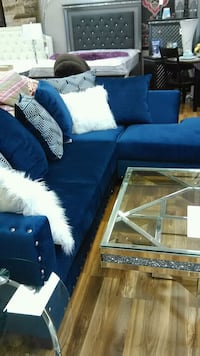 Royal blue sectional! Other couch and loveseat  Indianapolis