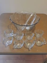 Anchor Hocking punch bowl set Jarrettsville