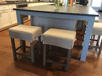 rectangular white wooden table with chairs Leesburg
