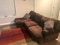 Comfortable Suede Sectional Couch Laurel, 20707