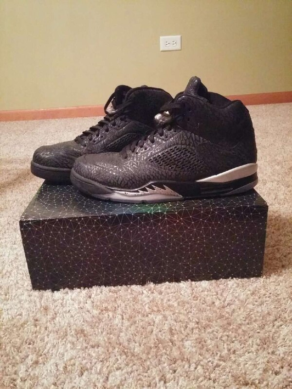 the best attitude 7a519 604fd black metallic silver air jordan 5