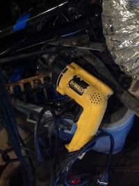 yellow and black Dewalt corded power drill Baltimore, 21215