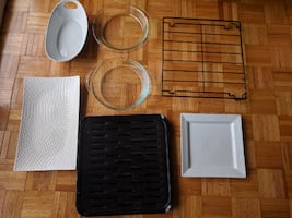 Kitchen Trays and Pyrex