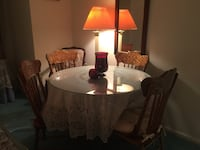 Kitchen  table with 6 chairs dining set
