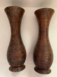 Two Tall Wooden Vases Vancouver, V5X 2G7