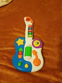 blue and white plastic guitar toy Norwalk, 90650