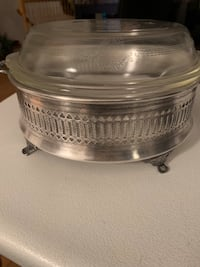 Vintage silverplate casserole dish and holding Fort Erie, L2A 6G9