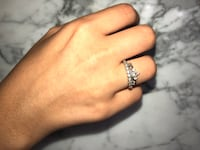 Silver princess cut ring size 7 Toronto, M2J 4A6