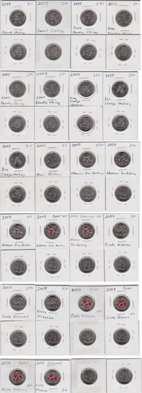 Canadian 25 Cent Coin Collection CALGARY