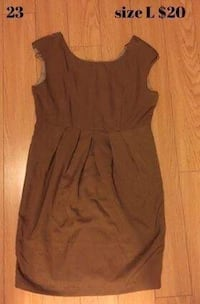 Brown dress size L new Toronto, M3B 2V2