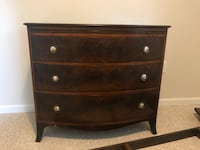 brown wooden 3-drawer chest Rhinebeck, 12572