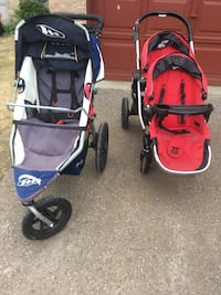 Red city select double stroller  and bob jogger Barrie