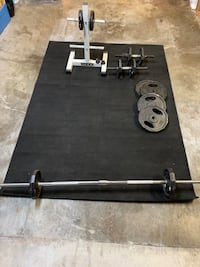 MARCY WEIGHT SET+WEIDER STAND+BLACK RUG