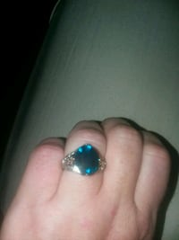 silver and blue gemstone ring Sparks, 89434