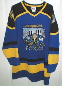 Disney Donalds Destroyers Hockey Jersey Mens Medium London