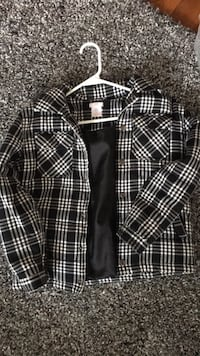 Black and white jacket for kids medium size 8 North Dumfries