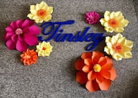 blue, yellow, and red floral wreath null, T8H 2H7