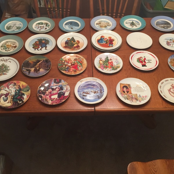 avon christmas plates most include the boxes