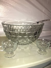 Vintage Whitehall Crystal punch bowl cup set Gambrills, 21054