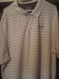 White and gray under armour striped polo shirt Bryant, 72022
