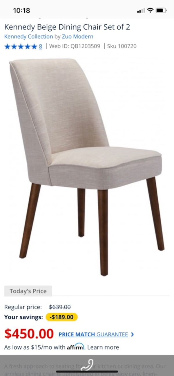 Zuo Modern Kennedy Dining Chairs Set of 2 b7cae0bb-2ef9-4444-8f39-7eb512f258c8