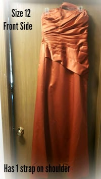 Size 12...1 off the shoulder strap Formal Dress Joliet, 60435