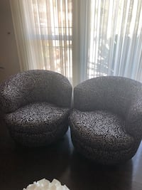 Two accent chairs (deep plum and white color) Los Angeles, 91606