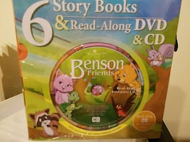 story book and read along dvd and cd box