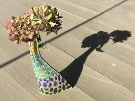 Mid-century modern ceramic vase hand crafted by toa art.