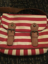 red and white stripe leather tote bag Mabank, 75147