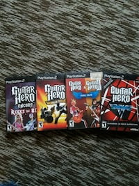 PS2 guitar hero games