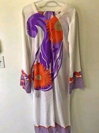 White and purple floral long-sleeved dress Toronto, M1B 6C3