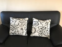 Two white-and-black floral throw pillows / cushions San Jose, 95120