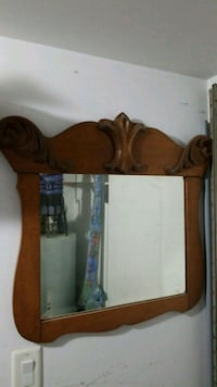 brown wooden framed wall mirror Montreal, H1C 0B2