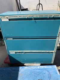 old metal file cabinets  For storage compartments