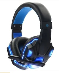 Stereo Gaming Headset for PS4 Xbox One PC Bass Over-Ear Headphones with Mic LED Lights and Volume - BLUE OR RED OSLO