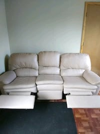 white leather 3-seat recliner sofa Largo, 33773