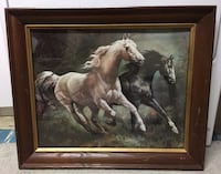 Framed horse wall hanging picture