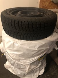 "16"" WINTER SNOW TIRES x 4 with rims and balanced 205/50R16 (like new!!!)  Burlington, L7M 0A5"