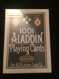 Aladdin Playing Cards (white) Blue Crown Magic Markham