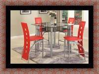 Red counter height table with 4 chairs Bowie, 20716