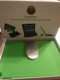 Coverbot Bluetooth keyboard case station new in box never use it 20$ it color green price to sell Lynn, 01905