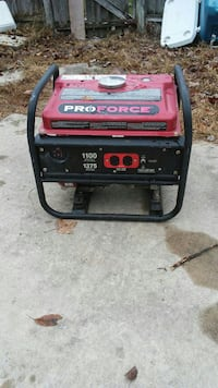 red and black Pro Force portable generator