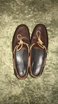 pair of brown leather boat shoes Clearwater, 33765