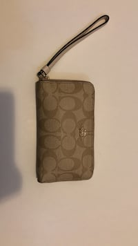 brown Coach monogram leather wallet Blythewood, 29016