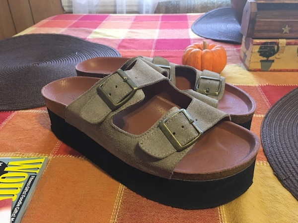 f004924ca50 Used Sixtyseven Paige Platform Free People Leather Birkenstock Sandals for  sale in Fishkill - letgo